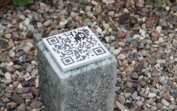 Qr code per lapide