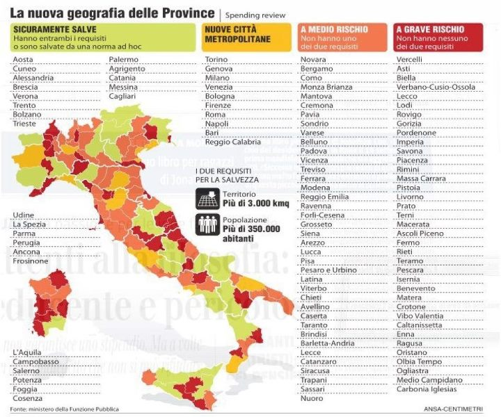 Cartina Italia Provincie.Via Le Province La Nuova Cartina D Italia Scopri Se La Tua