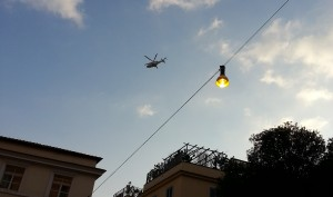 Aereo diretto a Castel Gandolfo con Papa Ratzinger