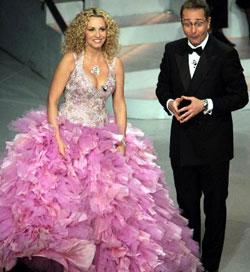 Antonella Clerici e Paolo Bonolis presentatori dell'edizione 2005