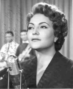 Nilla Pizzi, vincitrice delle prime due edizioni Sanremo
