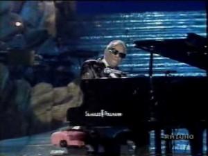 Ray Charles sul palco di Sanremo nel 89'