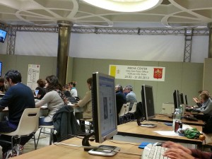 Media Center in Sala Nervi evento Conclave